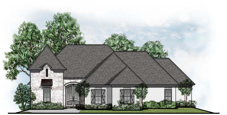 European French Country House Plan 41657 Elevation