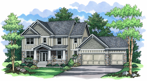 European Traditional House Plan 42000 Elevation