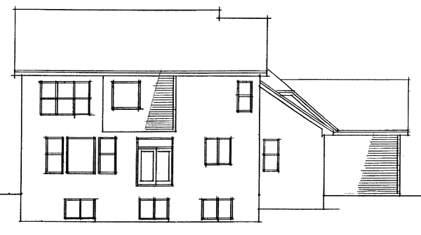 European Traditional House Plan 42004 Rear Elevation