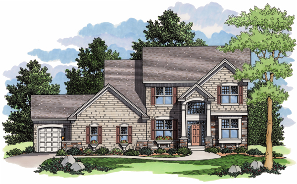 Colonial European Traditional House Plan 42005 Elevation