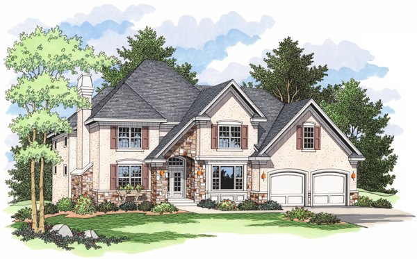 European Traditional House Plan 42007 Elevation