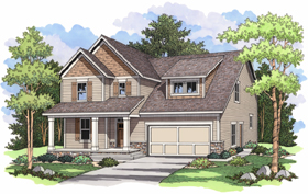 Traditional , European House Plan 42008 with 3 Beds, 3 Baths, 2 Car Garage Elevation