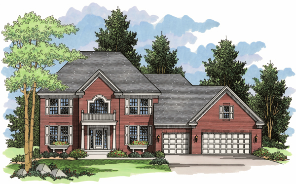Colonial European Traditional House Plan 42011 Elevation