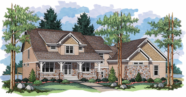 European Traditional House Plan 42013 Elevation
