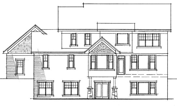 European Traditional House Plan 42013 Rear Elevation
