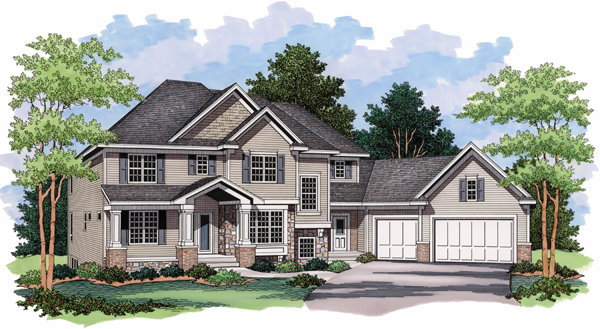 House Plan 42018 Elevation