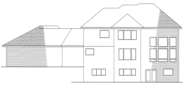 House Plan 42018 Rear Elevation