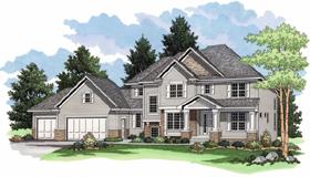 European , Farmhouse , Traditional House Plan 42021 with 3 Beds, 3 Baths, 3 Car Garage Elevation