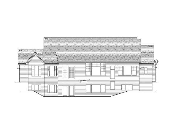 European Ranch Traditional House Plan 42024 Rear Elevation