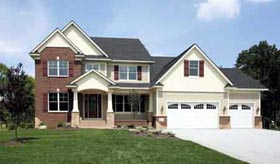 Colonial European Traditional House Plan 42026 Elevation