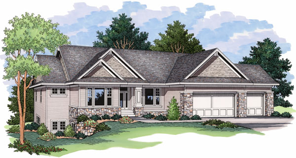 European Ranch Traditional House Plan 42028 Elevation