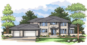 House Plan 42029 | European Traditional Style Plan with 3190 Sq Ft, 5 Bedrooms, 4 Bathrooms, 3 Car Garage Elevation