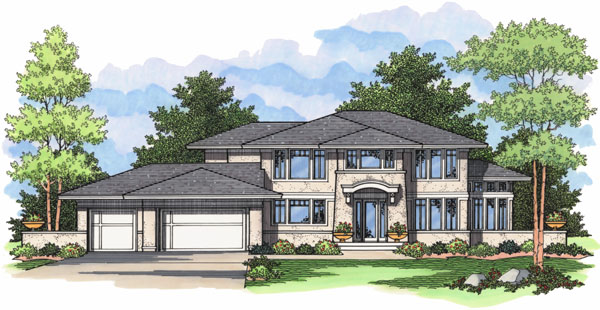European Traditional House Plan 42029 Elevation