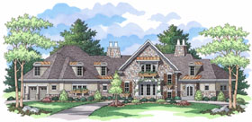 European Traditional House Plan 42031 Elevation
