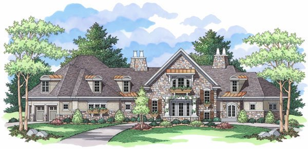 European Traditional House Plan 42031 Elevation