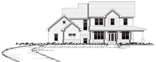 European Farmhouse Traditional House Plan 42035 Elevation