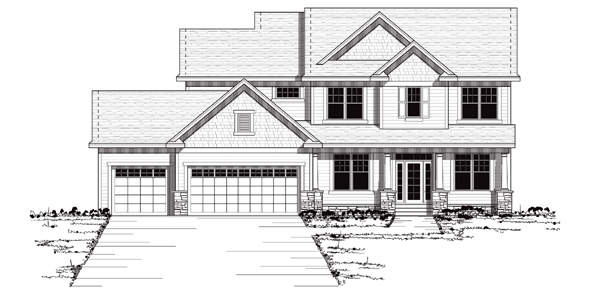 Colonial, European, Traditional House Plan 42036 with 4 Beds, 3 Baths, 3 Car Garage Elevation