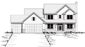 Colonial European Traditional House Plan 42038 Elevation
