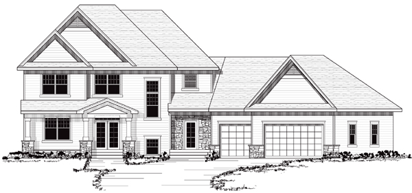 Colonial European Traditional House Plan 42039 Elevation
