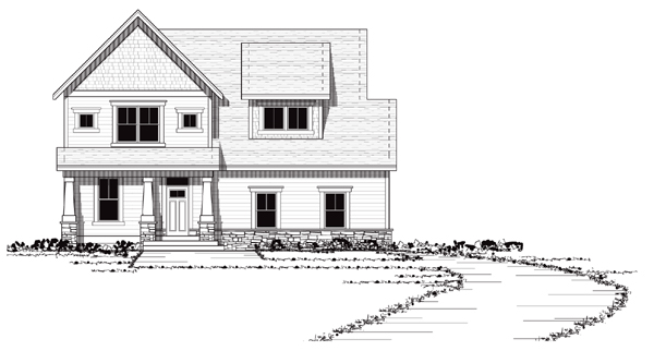 Bungalow Craftsman European Traditional House Plan 42041 Elevation