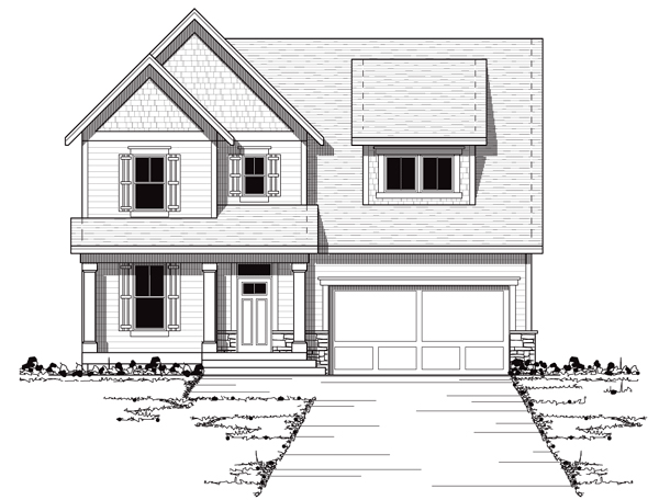 Bungalow Craftsman European Traditional House Plan 42043 Elevation