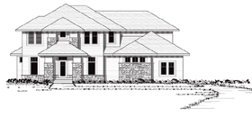 European , Traditional House Plan 42044 with 3 Beds, 3 Baths, 3 Car Garage Elevation