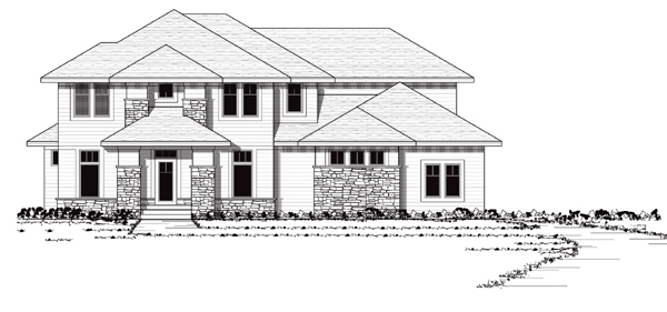 European Traditional House Plan 42044 Elevation