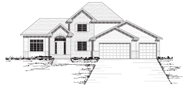 European Traditional House Plan 42045 Elevation