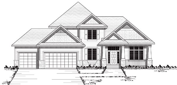 European Traditional House Plan 42046 Elevation