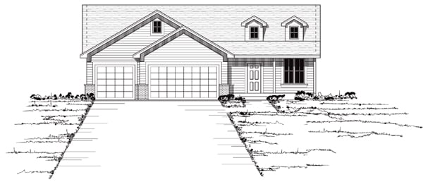 European Traditional House Plan 42047 Elevation