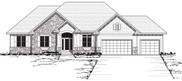 European Traditional House Plan 42048 Elevation
