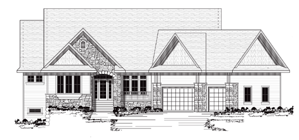 European Traditional House Plan 42049 Elevation