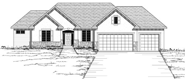 European Traditional House Plan 42050 Elevation