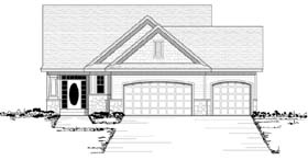 European Ranch Traditional House Plan 42055 Elevation