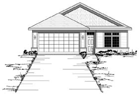 European Ranch Traditional House Plan 42056 Elevation