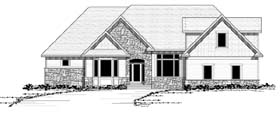 Traditional , European House Plan 42057 with 6 Beds, 5 Baths, 3 Car Garage Elevation