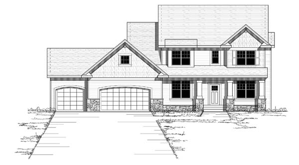 Colonial European Traditional House Plan 42058 Elevation