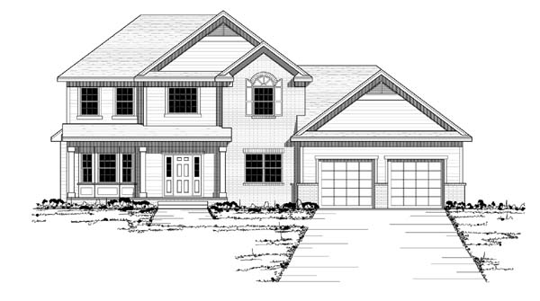 Colonial European Traditional House Plan 42059 Elevation