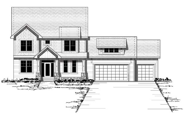 Colonial European Traditional House Plan 42060 Elevation