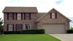 Colonial House Plan 42063 with 3 Beds, 3 Baths, 2 Car Garage Elevation