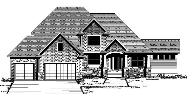 European Traditional House Plan 42064 Elevation