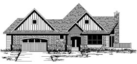 Craftsman European Ranch Traditional House Plan 42065 Elevation