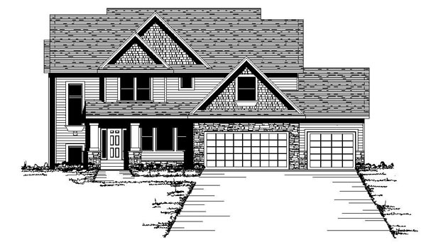 Craftsman European Traditional House Plan 42067 Elevation