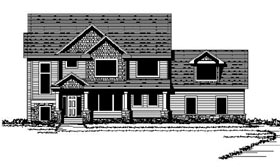 Colonial , Craftsman , Traditional House Plan 42068 with 4 Beds, 3 Baths, 3 Car Garage Elevation