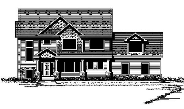 Colonial Craftsman Traditional House Plan 42068 Elevation
