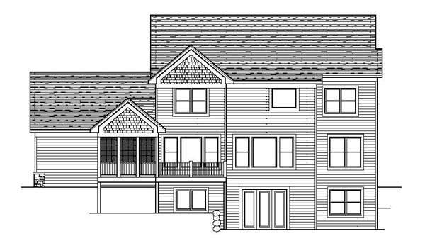 Colonial Craftsman Traditional House Plan 42068 Rear Elevation