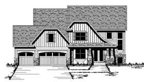 Craftsman European Traditional House Plan 42070 Elevation