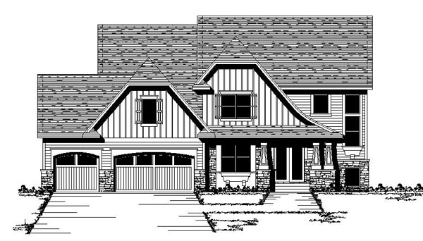 Craftsman European Traditional House Plan 42070 Elevation