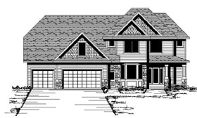 Craftsman European Traditional House Plan 42072 Elevation