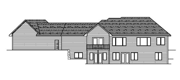 Colonial European Ranch Traditional House Plan 42073 Rear Elevation